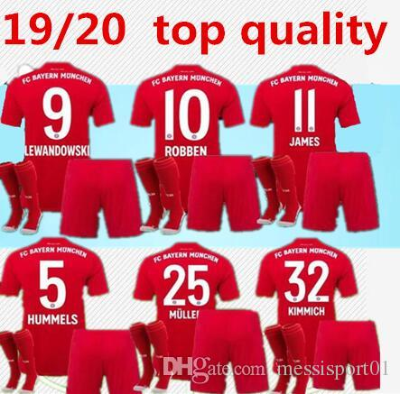 release date 1ee16 7a3f2 NEW Bayern Munich soccer Jersey adult kits with socks 2019/20 Bayern Munich  Soccer Jerseys James Lewandowski Müller 19/20 Football kit