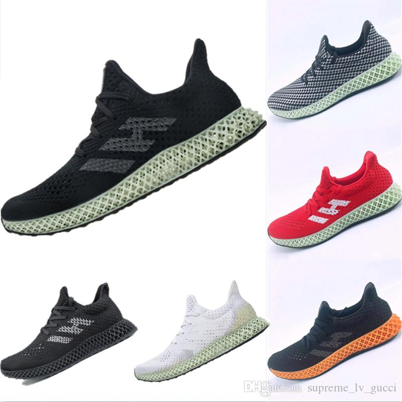 With Box 2019 New Tech EPX 82 4D Printing Cushioning Athletic Shoes  Futurecraft Runner Invincible 4D AlphaEdge ASW LTD Running Shoes 38-47