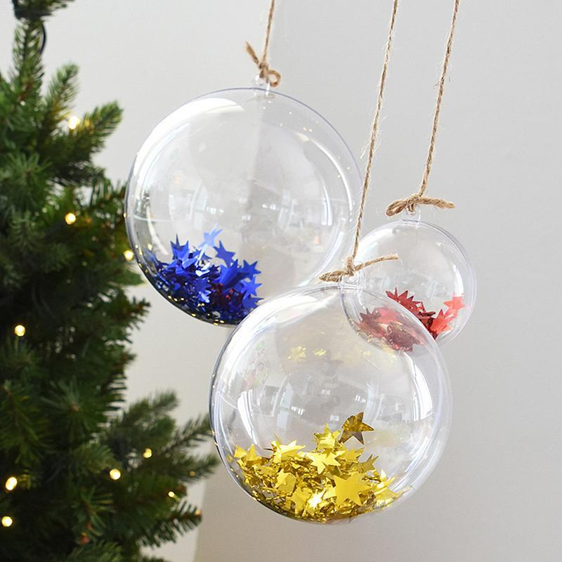 Christmas Ball Decorative Ball Hollow Clear Hanging Christmas Can Open  Bauble Ornament Gift Present Decorations House Decorations For Christmas  House With ... - Christmas Ball Decorative Ball Hollow Clear Hanging Christmas Can