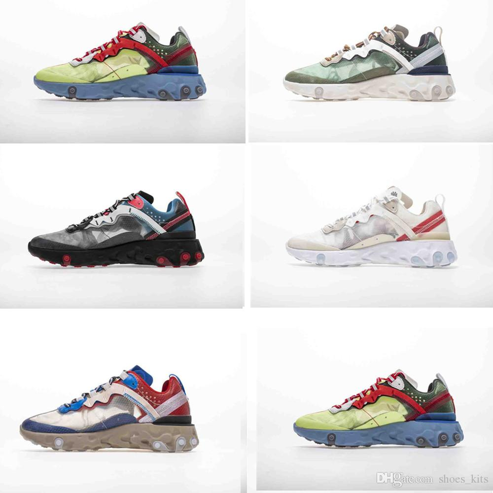 d1c3afea9e7b Compre Epic React Element 87 55 Undercover Men Running Shoes For Women  Designer Sneakers Sports Mens Trainer 55s 88s Sail Light Bone Sneakers 36 45  A  51.78 ...