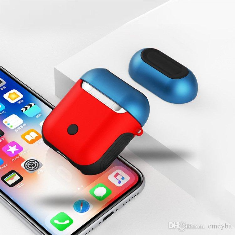 new concept 65597 23d91 Wireless Charging Case For apple Airpods Anti-Knock Silicone Glossy  Protective Cover For Airpod Air pods With Wired Charging