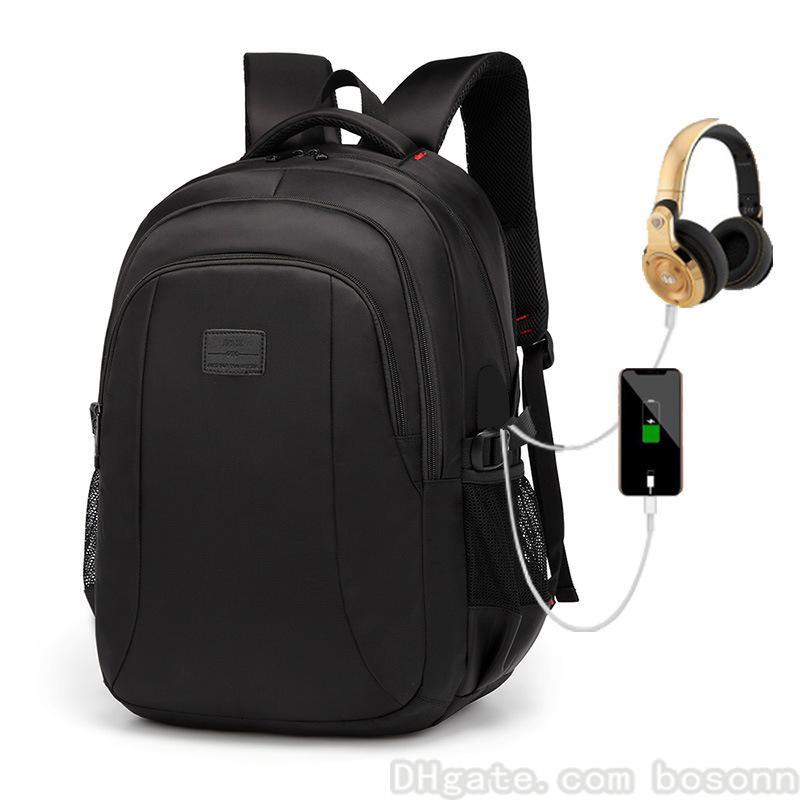 4218947fa42 Großhandel Doppel Umhängetaschen Koreanische Version Reise Outdoor Rucksäcke  USB Multifunktionale Computer Tasche Business Bag Für Männer Schwarz Von  Bosonn ...