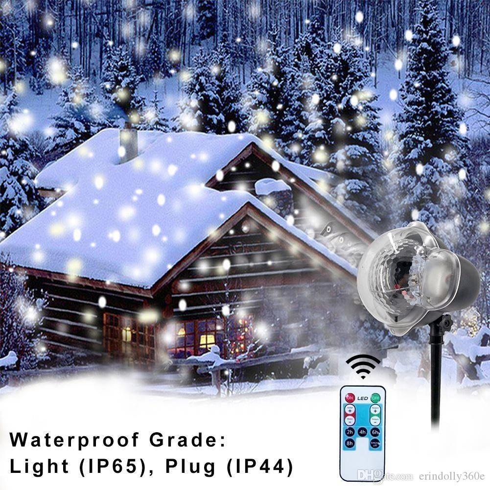 533cfa9520f ... Lámpara De Escenario Led De Navidad Proyector Impermeable Copos De  Nieve Iluminación Interior Decoración Fiesta Al Aire Libre Escena De Nieve  Jardín Luz ...