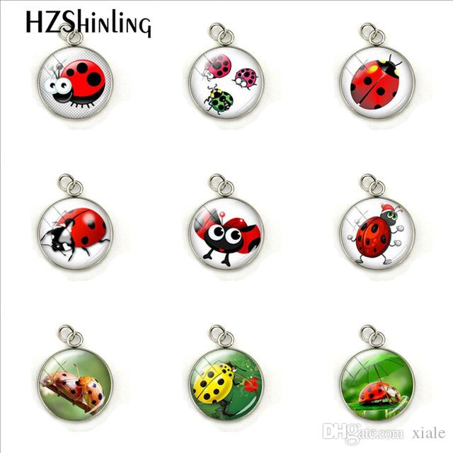New Cute Ladybug Insect Hand Craft Jewelry Acciaio inossidabile placcato Charms Pendant Accessori moda Regali per ragazze Donne