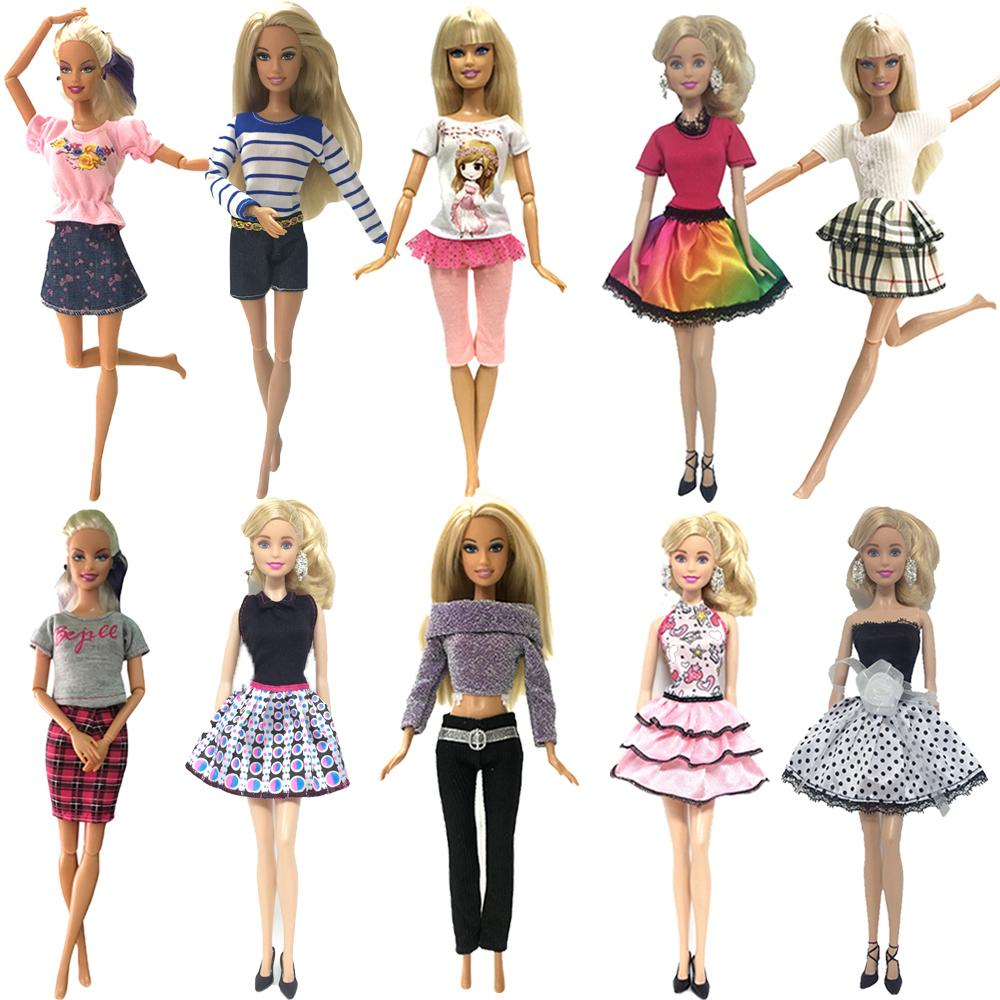 dde0180e4b8c5 Nk 10 Set 2019 Newest Princess Doll Outfit Beautiful Party Clothes Top  Fashion Dress For Barbie Doll Best Girls Gift Baby Toys Q190521