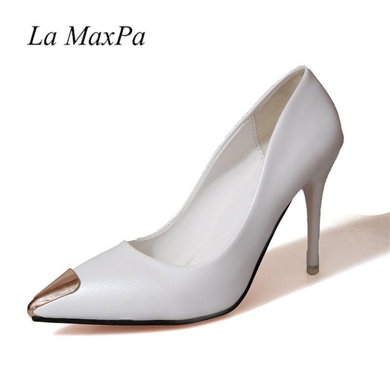 f38d3a242634b5 Großhandel Kleid Sexy Shiny   Lackleder High Heels Rosa Spitz Pumps Schuhe  Party Schuhe Frauen Stiletto High Heel Pump 9