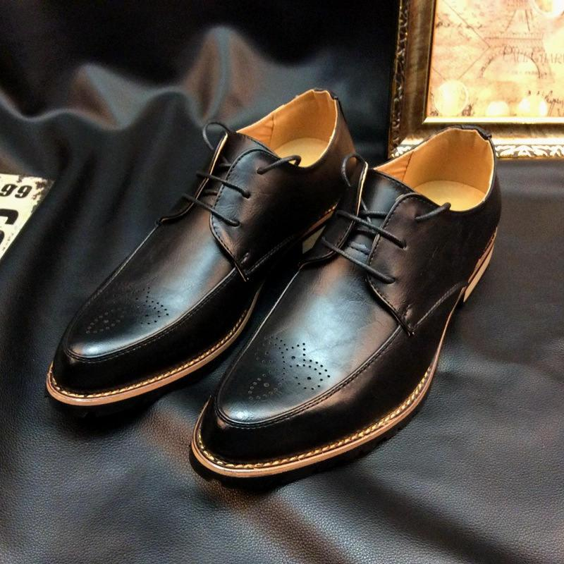 ccd17f4c155a 2018 New High Quality Leather Men Brogues Shoes Lace-Up Bullock ...
