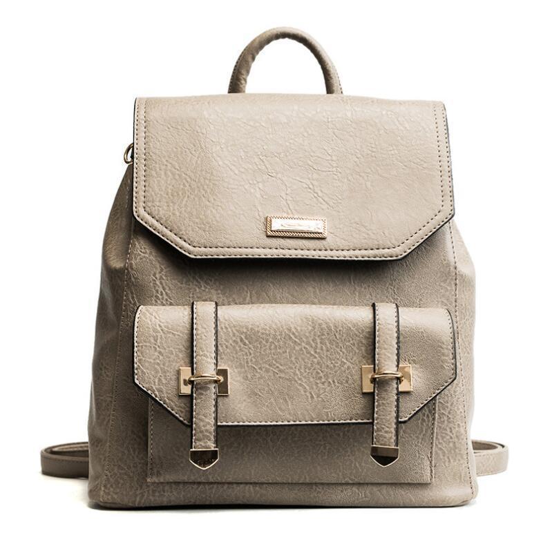 dc07704b9e Vintage Fashion Women Backpack Bag 2019 New School Backpacks High Quality Pu  Leather Women S Shoulder Bags Travel Bag Rucksack School Bags Messenger Bags  ...