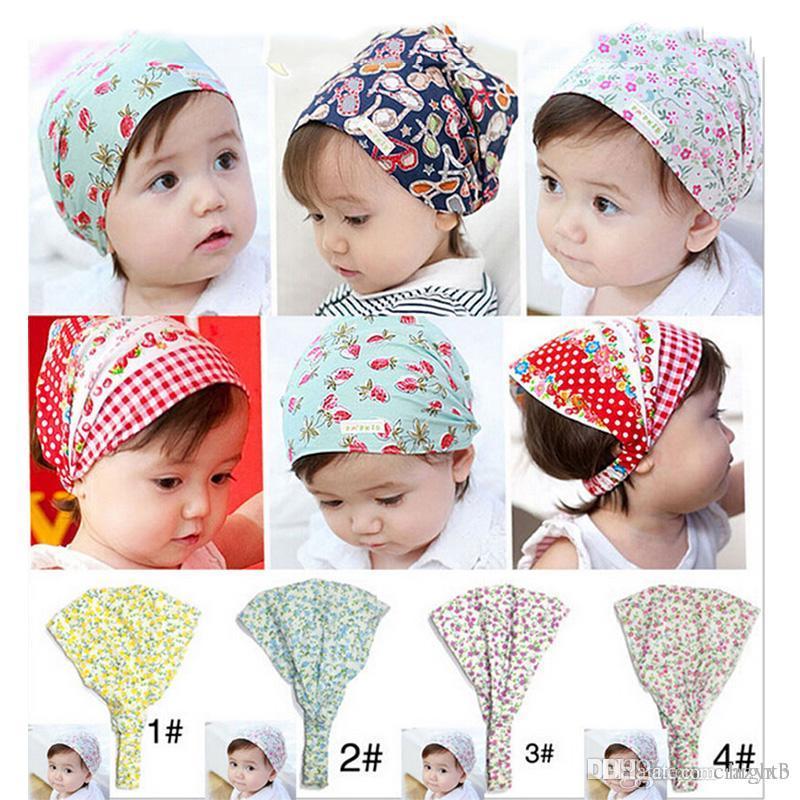 2019 Hot Sale Baby Girl Bandana Hats Kid Flower Headband Hair BandS Hair  Accessories Headscarf Toddler Baby Headwear W 260. From Hight3 f3e1cfc03b2