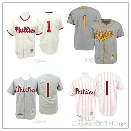 eae5bc8cf85 Cheap Cream 1948 Grey 1950 Richie Ashburn baseball Jersey Men's 1 Mitchell  And Ness Pa Phillies Mix Order