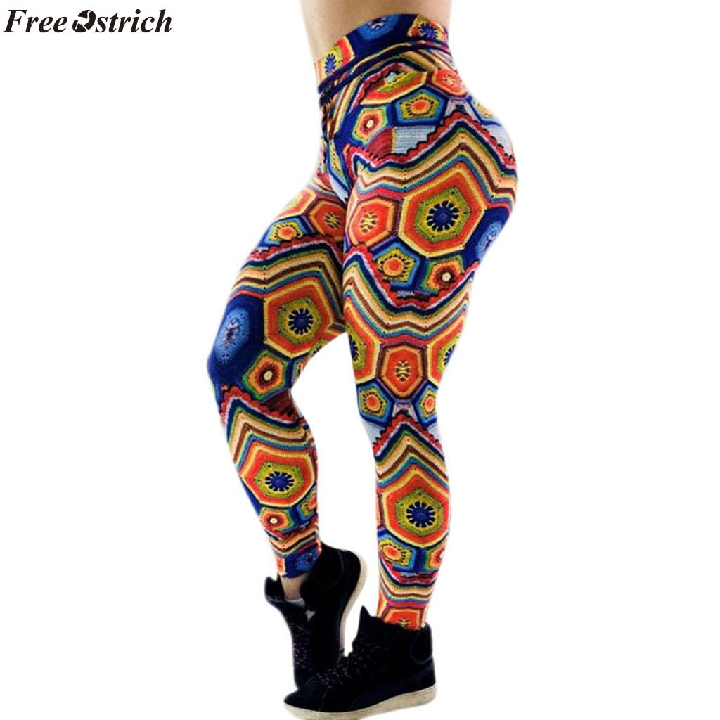 f46eabbfea9c7 2019 FREE OSTRICH Pocket High Waist Leggings Women Fitness Workout  Activewear Printing Trouser Fashion Patchwork Push Up Female From Vikey10,  ...