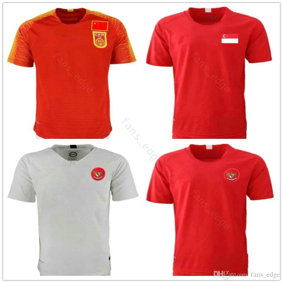 4622c1fc4 2019 2019 2020 National Team Indonesia Singapore China Soccer Jersey Custom  Any Name Any Number 19 20 Home Away Red White Football Shirt Uniform From  ...