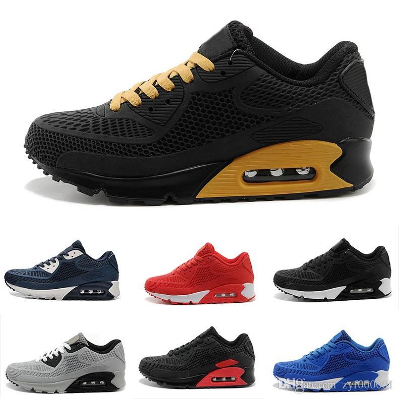 ba65e241823 2018 brand classic 90 KPU Mens shoes fashion luxury designer Women Running  Trainer Air Cushion Surface Breathable Sports basketball sneakers