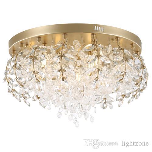 Elegant Acheter Nouveau Design Lampes De Lustre De Plafond En Cristal Postmodernes  Moderne Chambre Led Lampes Mode Créatif Plafond Lustres Chauds Luminaires  ...
