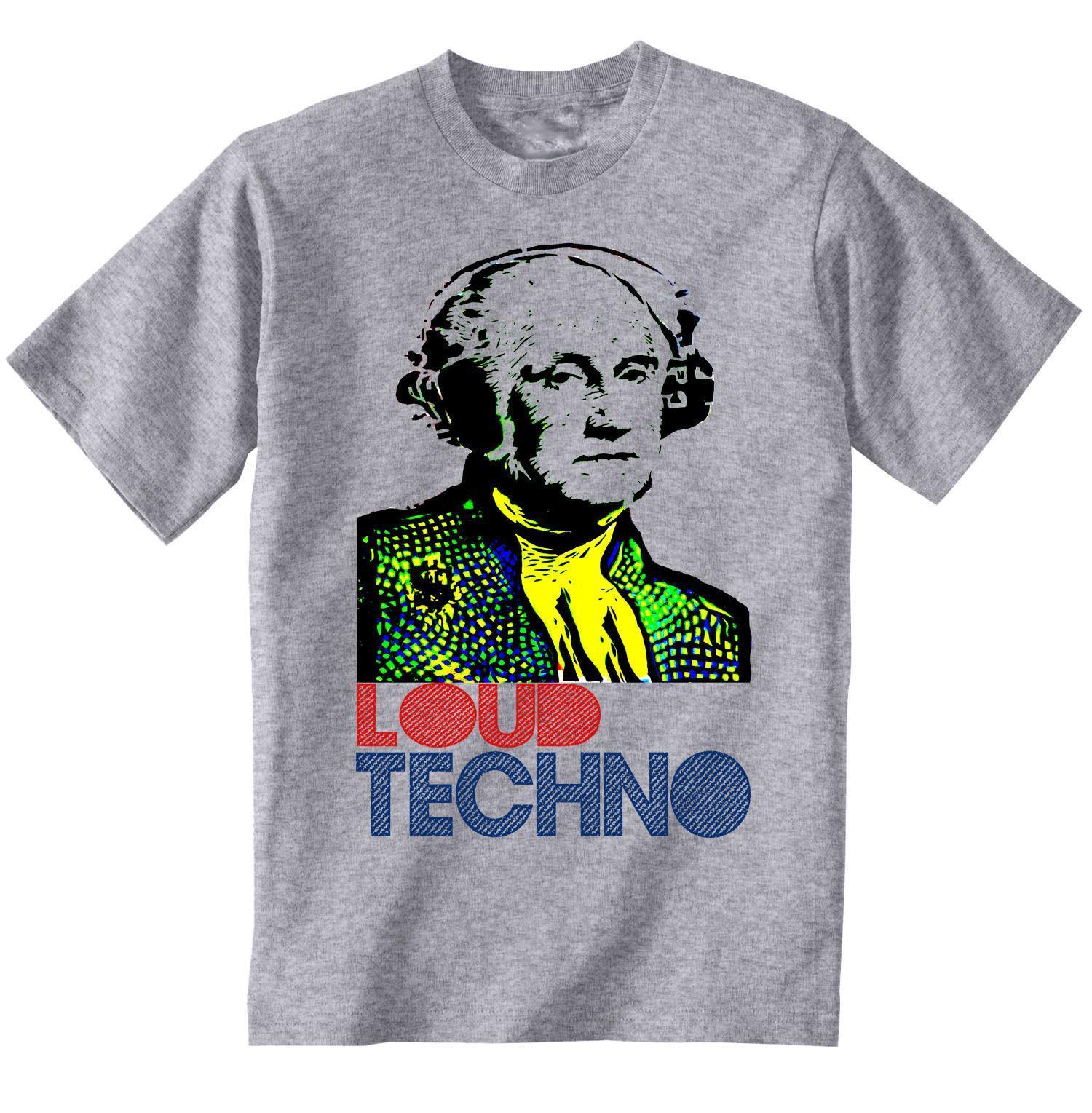 TECHNO MUSIC - NEW COTTON GREY TSHIRT Summer Fashion O-Neck Top Quality  Cotton Casual Men T Shirts Men Free Shipping