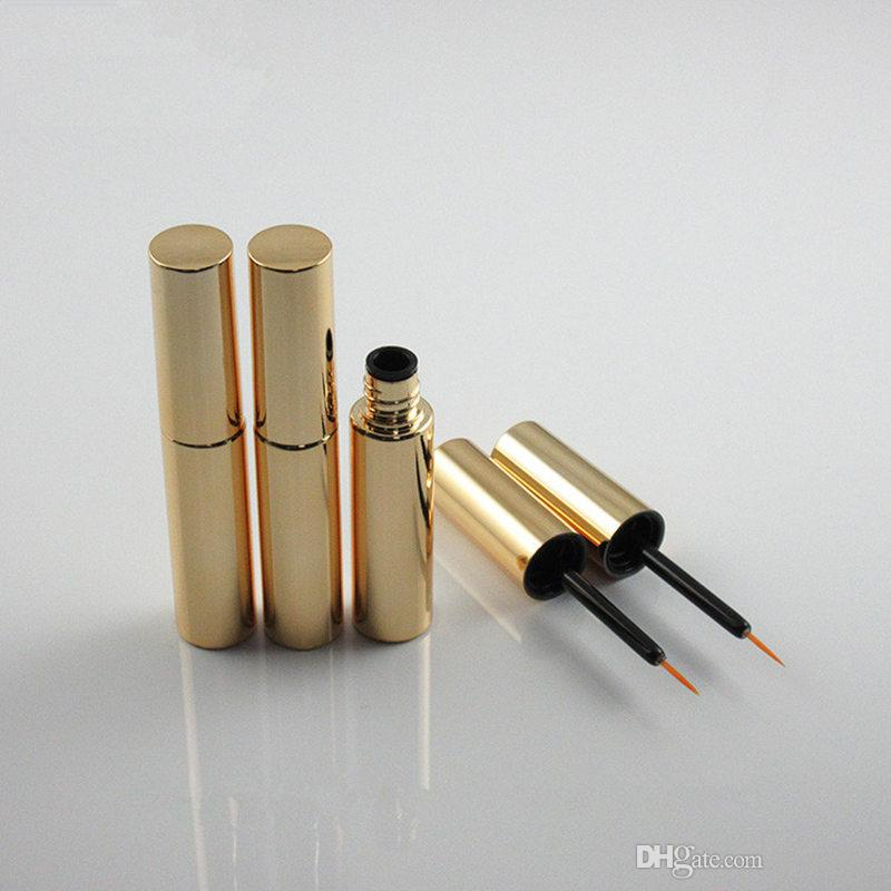 8ml Mascara Eyeliner tubes Silver Gold Empty revitalash Eyelash Bottles DIY make up cosmetic packing Container F3378