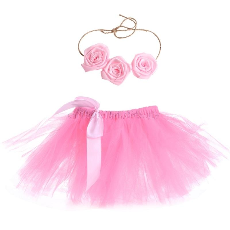 fdb1668832 Baby Girls Tutu Skirt Hairband Photo Prop Costume Outfit Lovely ...