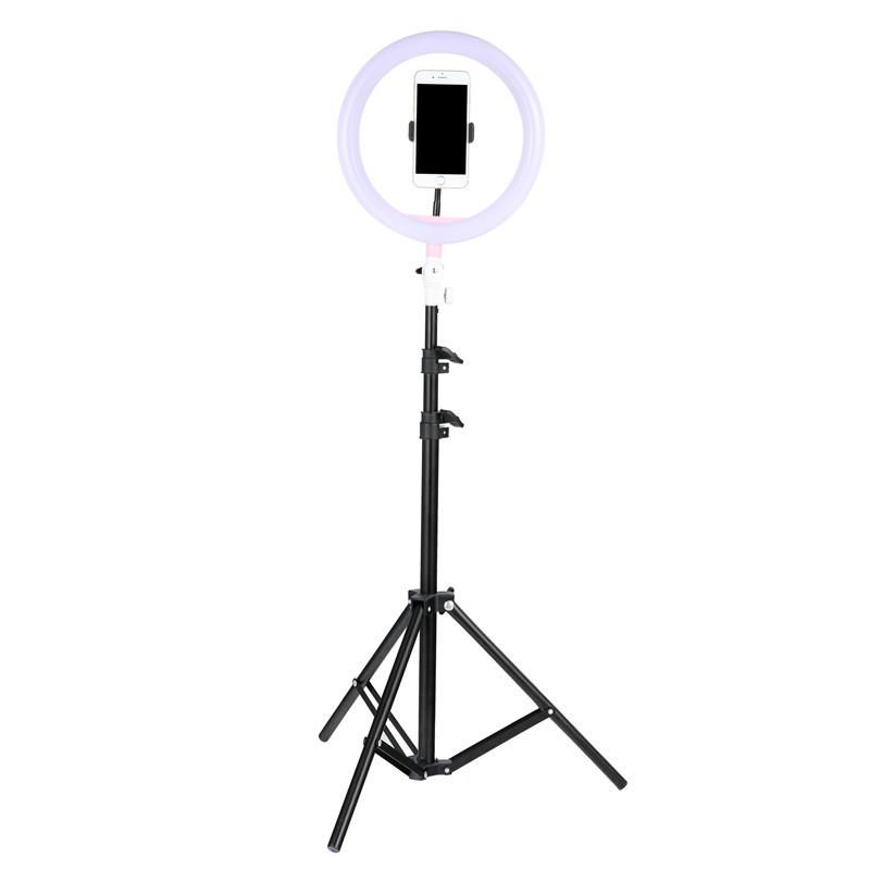 check out a0d73 39bc1 Tycipy Phone Ring Light For iPhone X 8 7 6 Plus 10 /26cm Dimmable LED  Ringlight With Tripod Stand For Makeup Photography Selfie