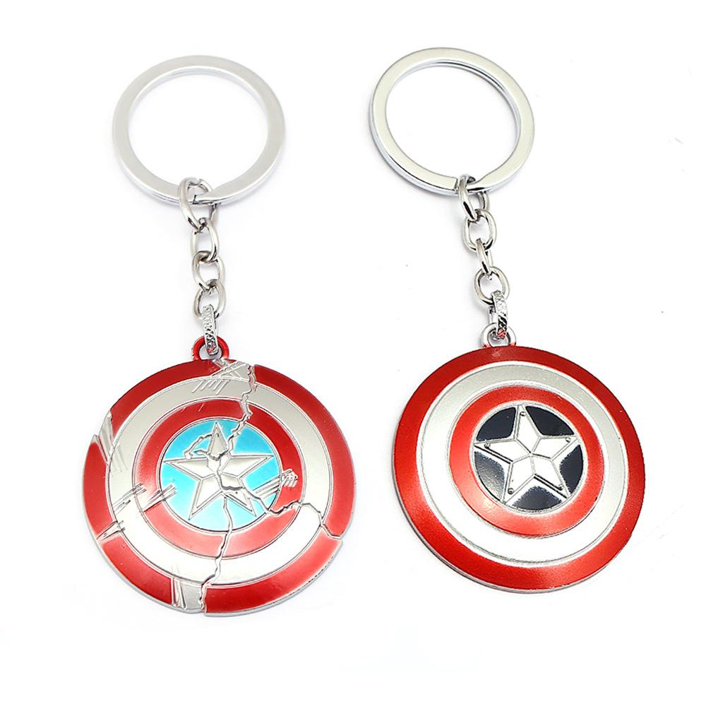 The Keychain Superhero Star Shield Pendant Keyring Car Key Chains Accessories llaveros Gift For Men