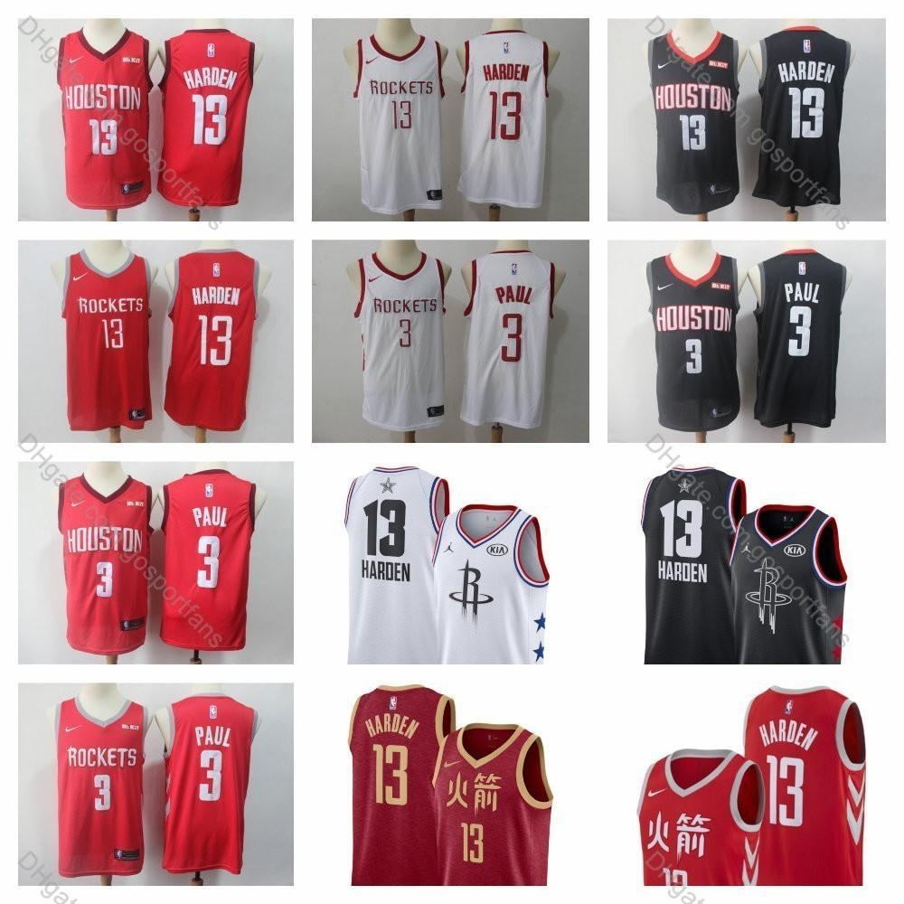 reputable site 4be1d b97e3 2019 James Harden Jersey #13 Rockets 2019 Earned Houston Chris Paul Edition  Basketball Jerseys City James Harden Basketball Jersey Stitched