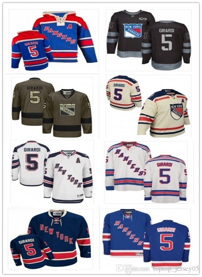 8e211529f24 2019 2018 New York Rangers Jerseys #5 Dan Girardi Jerseys  Men#WOMEN#YOUTH#Men'S Baseball Jersey Majestic Stitched Professional  Sportswear From ...