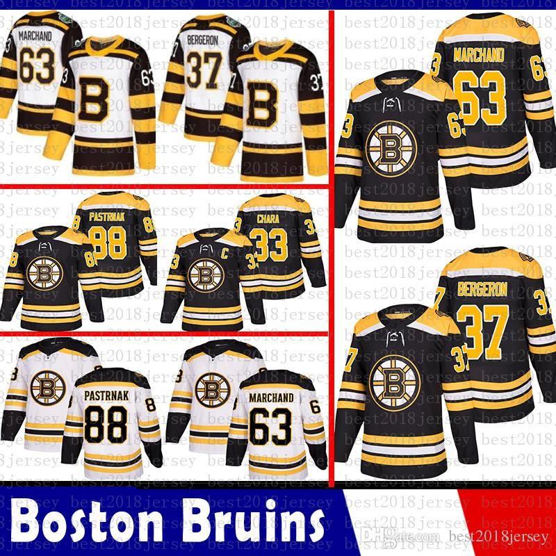 Hot Sale Boston Bruins 33 Zdeno Chara Hockey Jerseys 37 Patrice ... 055d49152