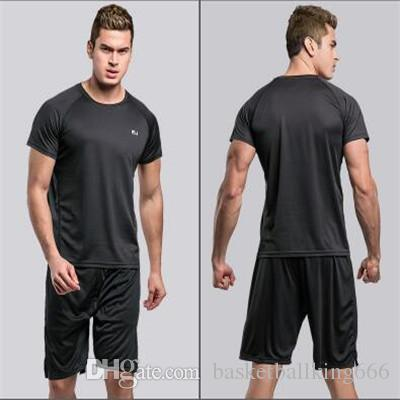 Men's Sports T-shirt Outdoor Sport Shorts Two Piece Suit Sports Shortsleeve Pants Running clothes Tight suit