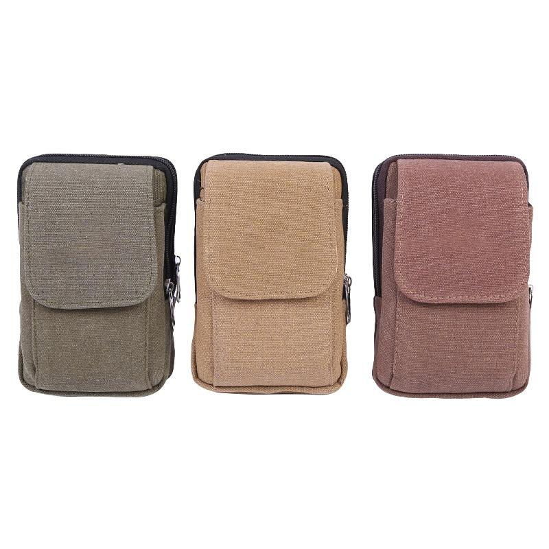 Relojes Y Joyas New Mobile Phone Pocket Wear-resistant Lightweight Mens Canvas Pocket Waterproof Outdoor Sports Pockets Multi-function Wallet
