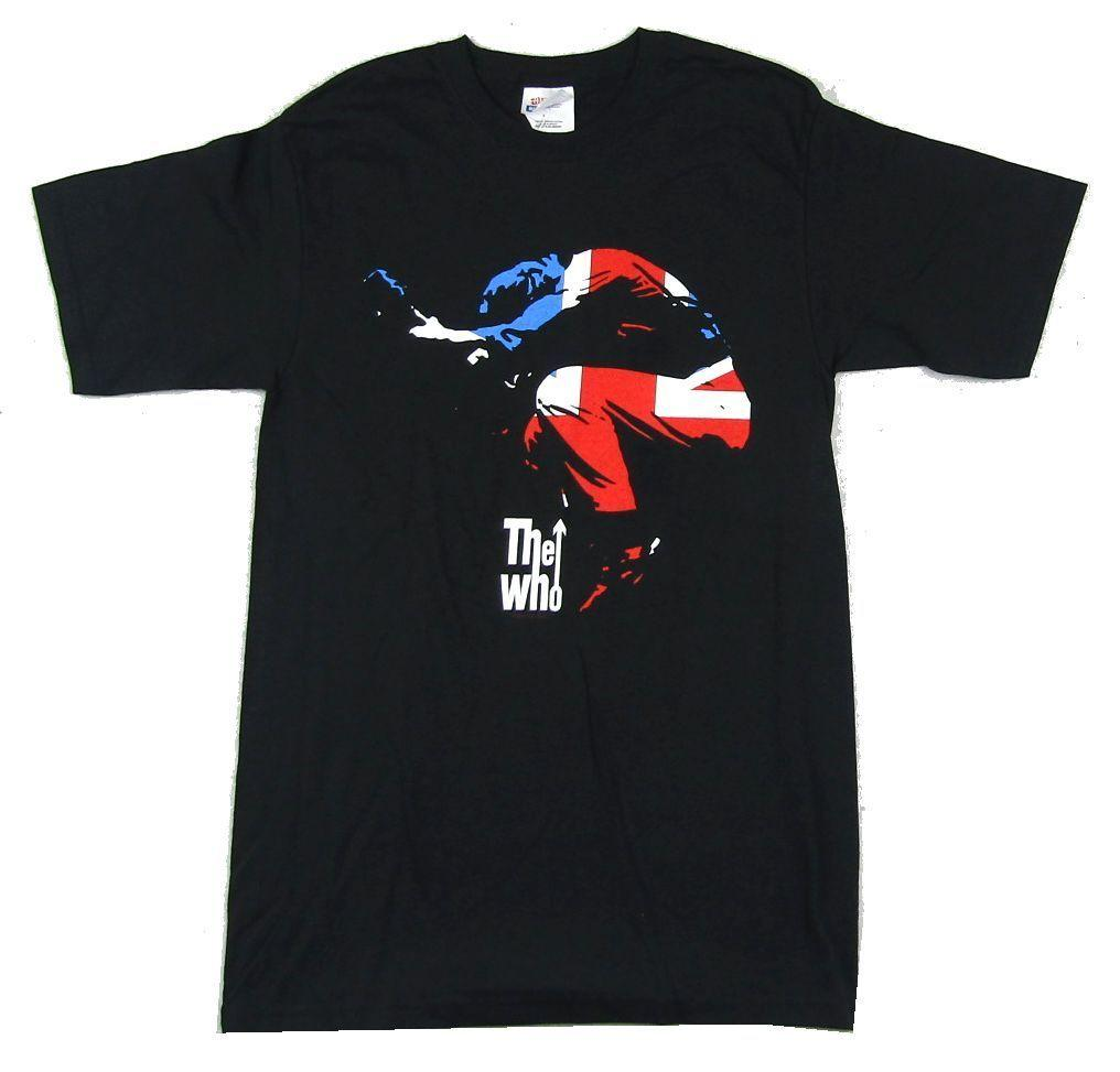 d72f3c18 The Who Jumping Pete UK Flag Black T Shirt New Official Band Merch Men Women  Unisex Fashion Tshirt T Shirt Design Online Vintage Tees From ...