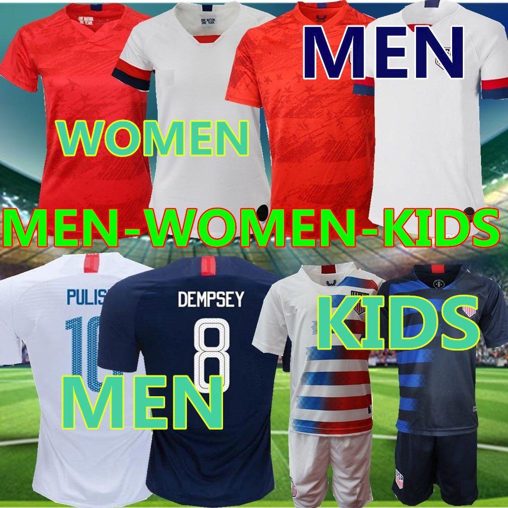 quality design 86834 7d26f 2019 America Soccer Jersey United States home away Shirt USA MEN KIDS LLOYD  RIPINOE KRIEGER Football Uniform Female 19 20
