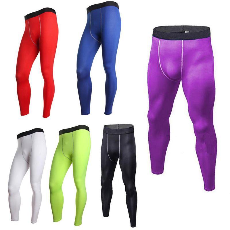 3821ac829a385 2019 Mens Legging Pants Men Combat Athletic Skinny Compression Basketball  Training Legging Run Gym Track Sport Tight Pants Fitness XZT044 From  Efashiona, ...