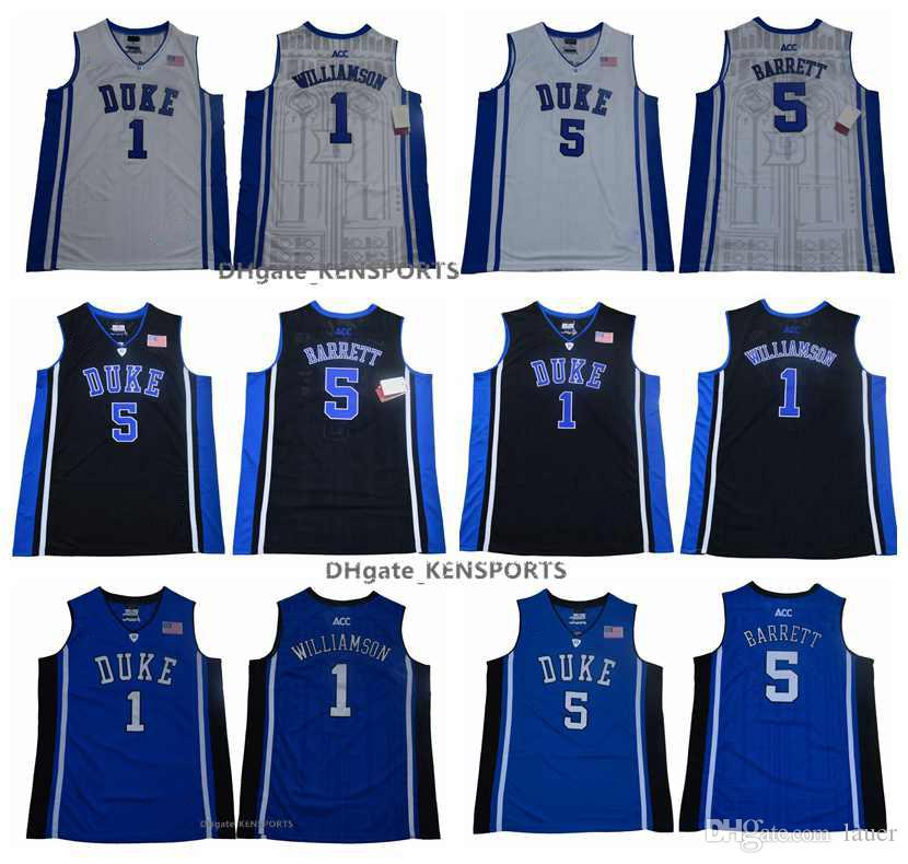 bff7334e05dc 2019 2019 NCAA Duke Blue Devils College Basketball Jerseys New Elite 1 Zion  Williamson 5 R. J. Barrett RJ Stitched Shirts Elite Edition Jerseys From  Tenplus ...