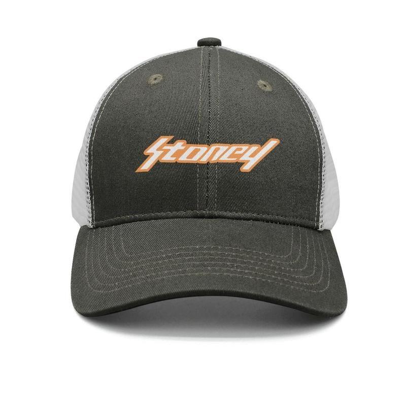 df5c24f66 Post Malone Stoney logotipo exército-verde mens e mulheres trucker cap  baseball design designer plain chapéus