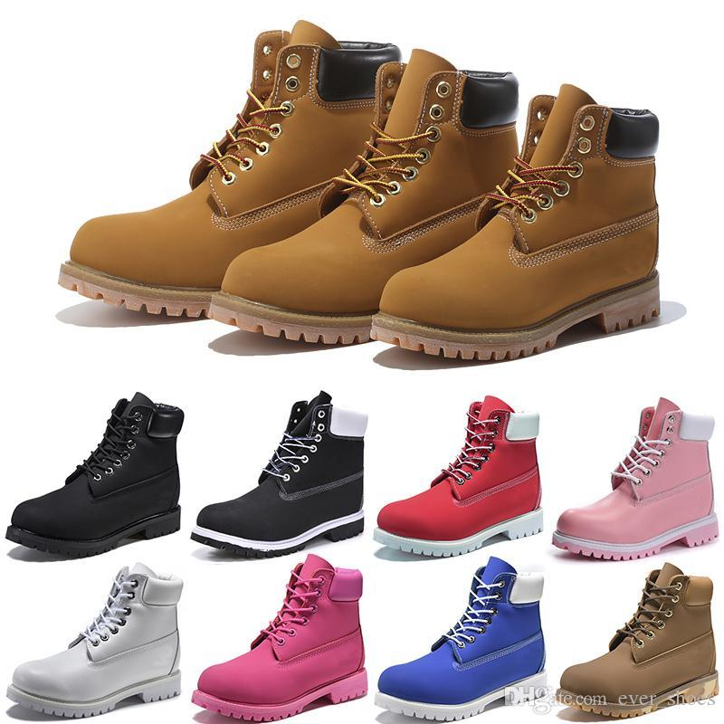 2ebb535b3108 2018 NEW Fashion Timberland Mens Designer Boot Leather Sup Outdoor Winter Shoes  Women Casual Luxury Brand Boots Cdg Shoes 36 45 Shoes For Sale Cheap  Cowgirl ...