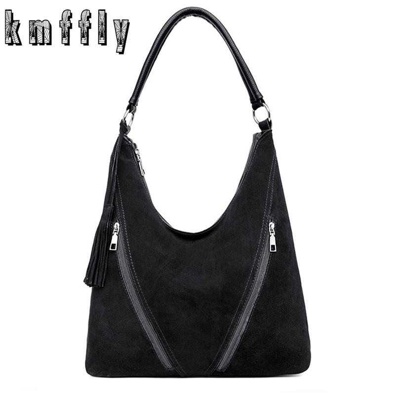 676bc40381 Fashion Tassel Hobo Bag Women Leather Handbags Large Capacity Crossbody Bags  For Women 2018 New Faux Suede Messenger Bags Bolsa Black Handbag Purses ...