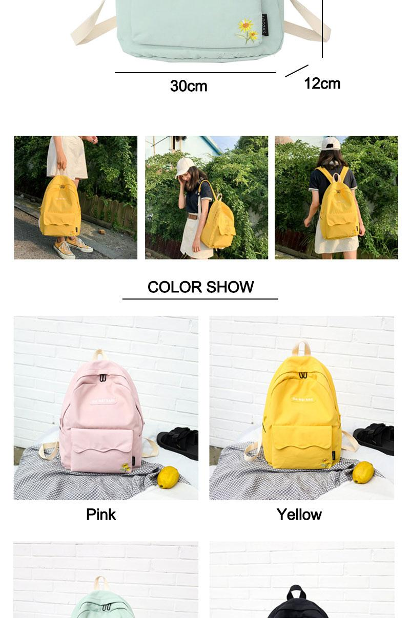 fa704e951d53 DCIMOR Sunflower Embroidery Women Backpack Lovely Girl School Backpacks For  Teenagers Female Nylon Waterproof Bookbag Mochilas Backpacks For Kids ...