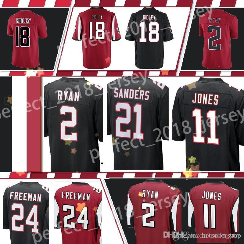 2019 Atlanta Falcons Football Jerseys 11 Julio Jones 18 Ridley 2 Matt Ryan 21  Deion Sanders 24 Devonta Freeman Stitched Embroidery Logos From Poop ytre 5fb55362f