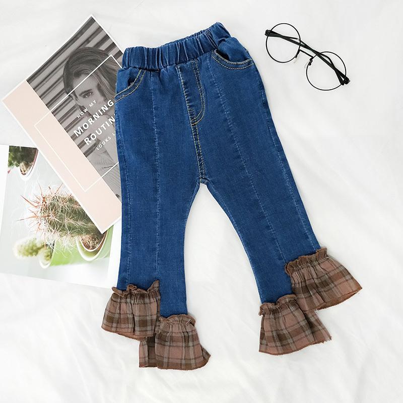 94c6faafa Fashion Boot Cut Baby Girls Denim Pants Toddler Girls Stylish Jeans ...