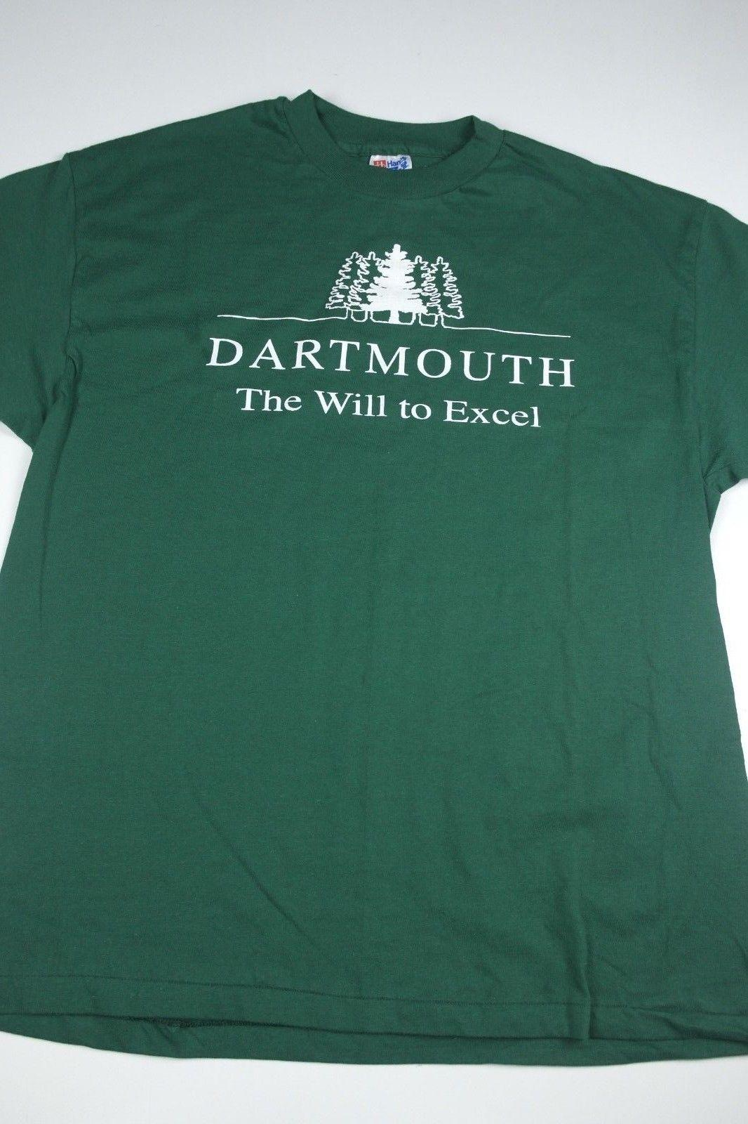 b135a1a27a16b Vintage Dartmouth College The Will To Excel T-Shirt Size XL green vtg  90sFunny free shipping Unisex Casual