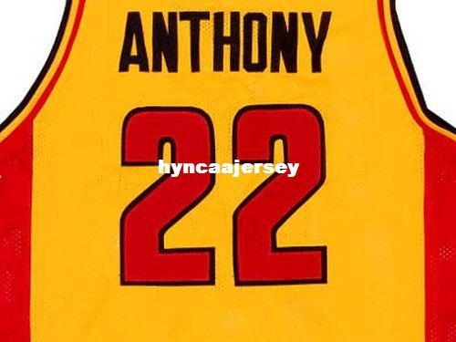 finest selection 4e04a fc9a7 Cheap Mens Yellow CARMELO ANTHONY OAK HILL High School JERSEY YELLOW NEW  ANY SIZE XS - 5XL Retro Basketball Jerseys NCAA College