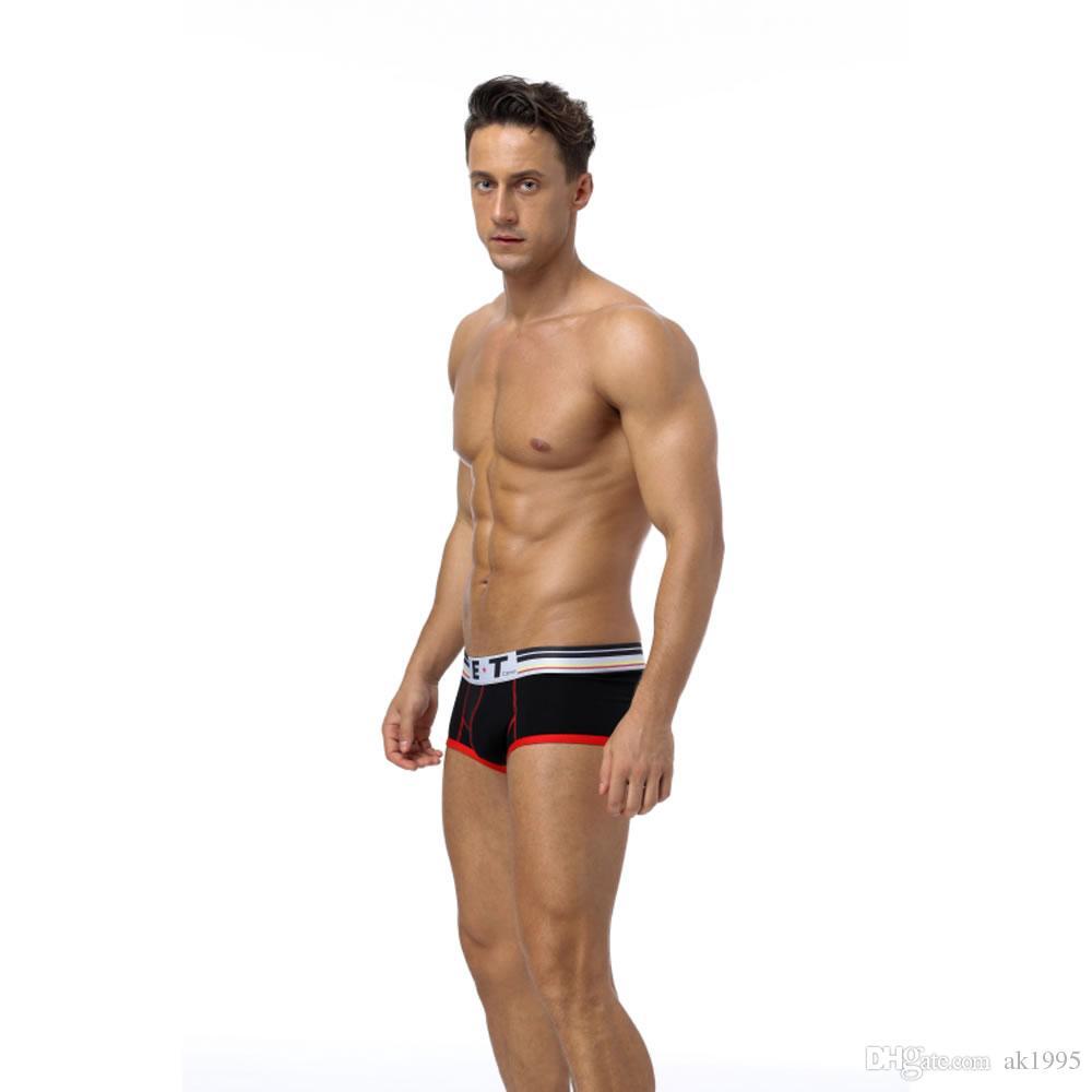 bf9c6bdc24d5ef ET Men's New Fashion Underwear Solid Color Comfortable Breathable ...