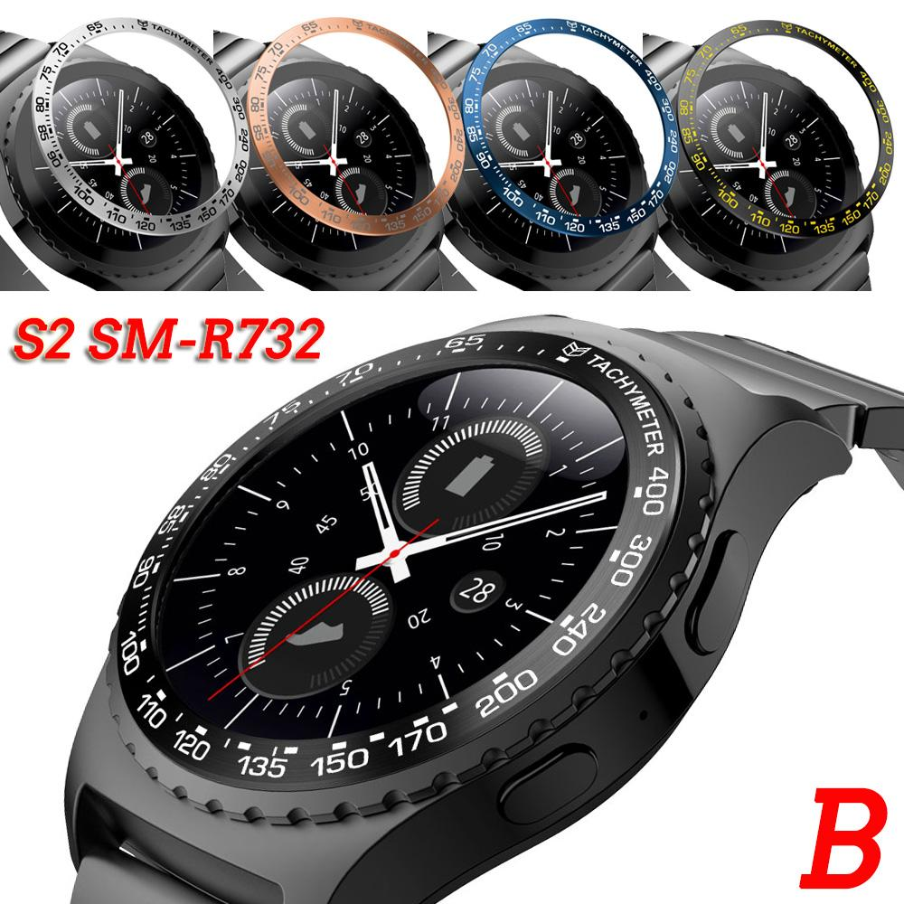 For Samsung Gear S2 SM-R732 Classic Watch Dial Bezel Ring Styling Case Adhesive Cover Anti Scratch Protection Ringke Bezel #B