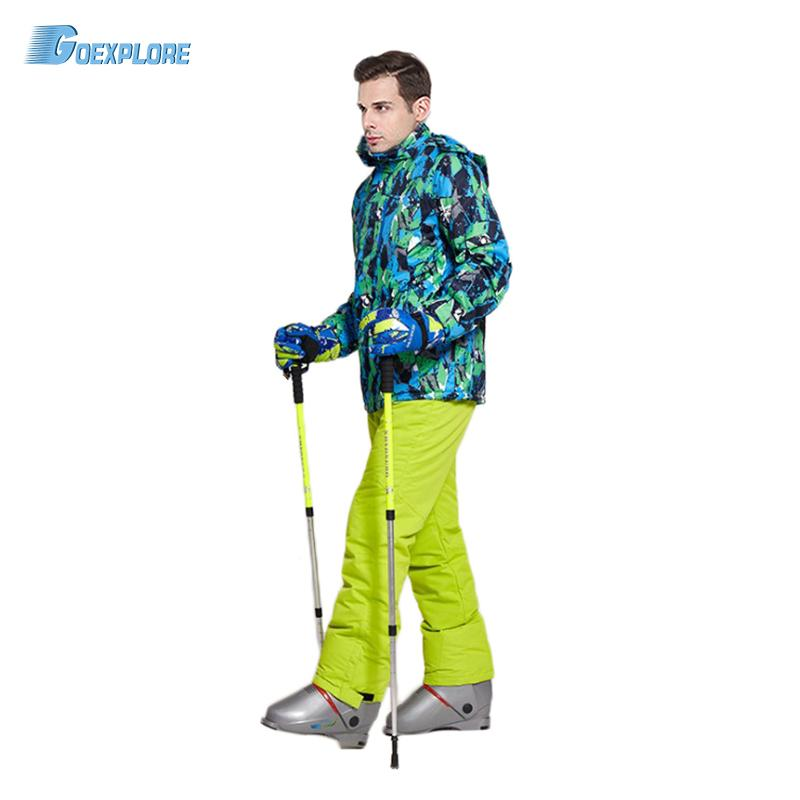 Goexplore Snowboard Suit Men 30 Skiing Sets Waterproof Windproof Thicken Outdoor Snow Clothes Ski Sets Jackets Pants For Male