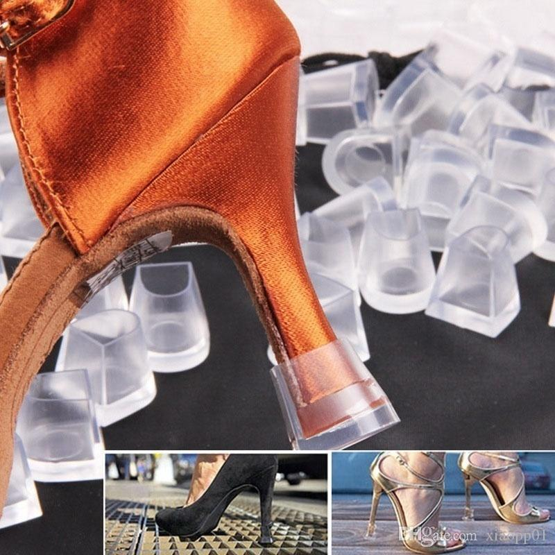 660f8aa184d WomenTransparent Rubber High Heel Cover Latin Stiletto Dancing Shoe Heel  Protector Antislip Sink Stoppers Shoe Accessories