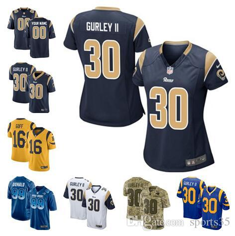 new arrival 521d4 f491f Rams Todd Gurley II jersey Aaron Donald Jared Goff custom Vapor Untouchable  color rush custom american football jerseys factory sports 4xl