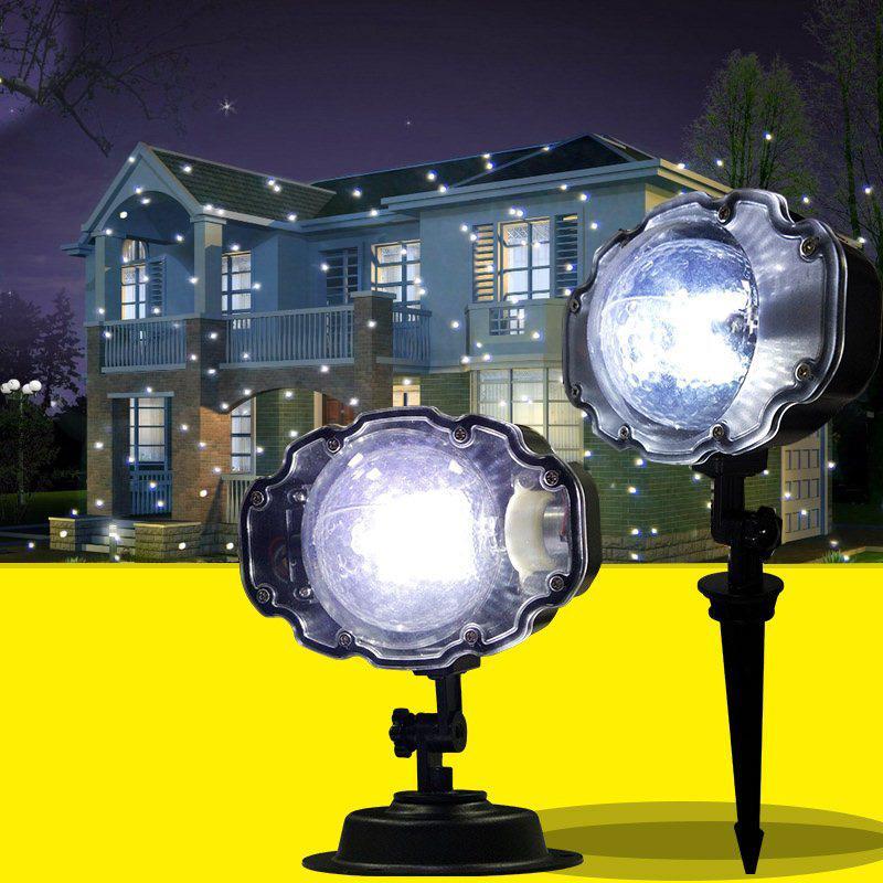 123207d506f Compre Proyector De Nieve IP65 Nieve En Movimiento Jardín Exterior  Proyector Láser Lámpara Lámpara Copo De Nieve Luz Láser Para La Fiesta De  Año Nuevo Luz A ...