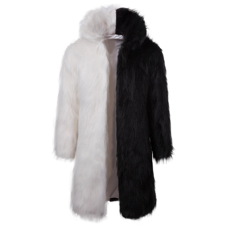 cd3bf20f1ea10a Acquista Uomini Cappotto Di Pelliccia Con Cappuccio Inverno Faux Fur  Cappotto Outwear Uomini Punk Parka Giacche Cappotti Di Pelle Lungo Cappotto  Di Marca ...