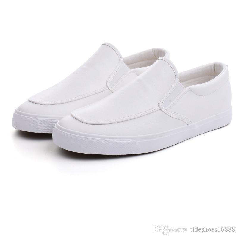 96115456f27 Compre Venta Caliente Zapatillas De Deporte De Cuero Mocasines Para Hombre  De Lujo Casual De Cuero Suave Hombres Zapatos 2019 Marca Ocio Cómodo  Conducción ...