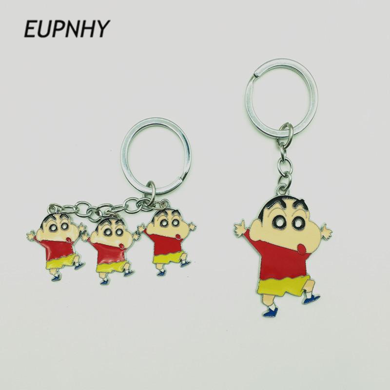 Eupnhy Cartoon Crayon Shinchan Key Chain Key Rings For Car Bag Women Girls Pendant Keychain Holder Trinket Gifts