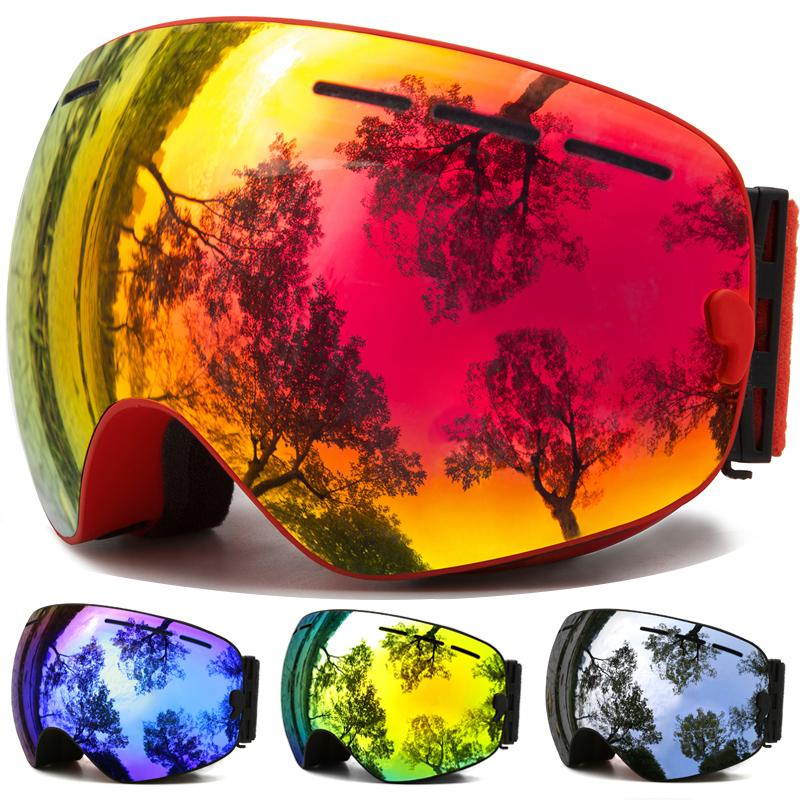 Ski Goggles,Winter Snow Sports Snowboard Goggles with Anti-fog UV Protection for Men Women Youth Snowmobile Skiing Skating mask